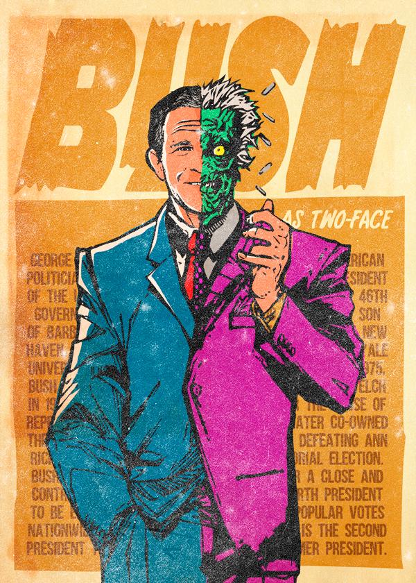 bush-twoface
