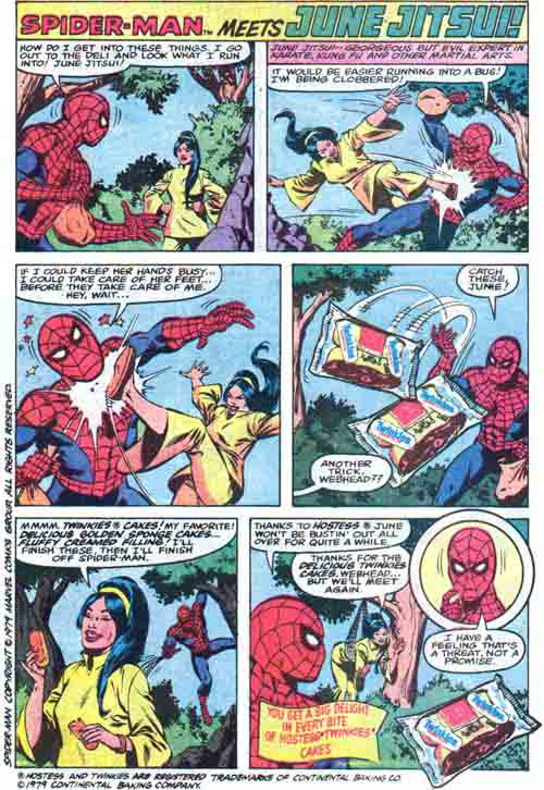This June Jitsui ad was my absolute favorite Spidey one